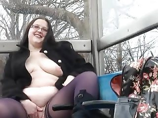 Flashing at the Bus Stop