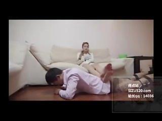 Chinese femdom house slave