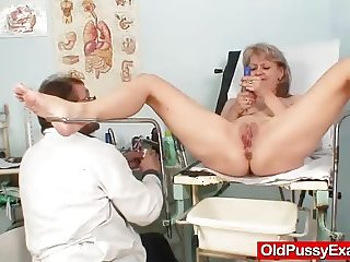 Beautiful blonde milf Alena hole doc exam