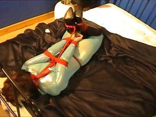 Elisha Hogtied in Lycra Catsuit