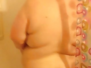 SSBBW Big Bella in the shower dancing