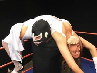 mix wrestling in nylons