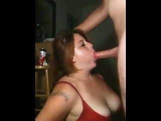 Rough blowjob action with a sexy girl