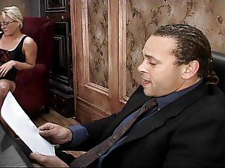 Bitchboy got butt-fucked during a job interview