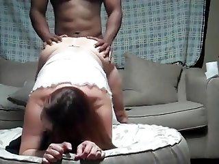 Bbw girlfriend couch fun