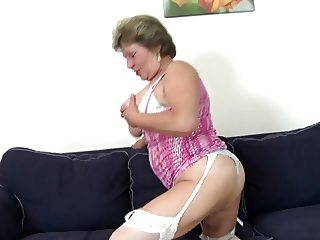 Dirty grandma gets big young cock