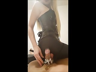 Chastity tease with  mistress