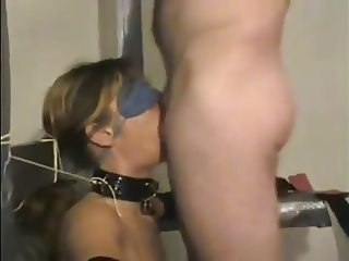 Tied and Blindfolded Girl Deepthroat