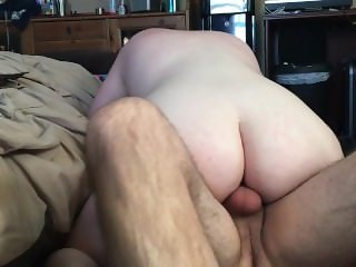 Hubby records young wife riding old cock