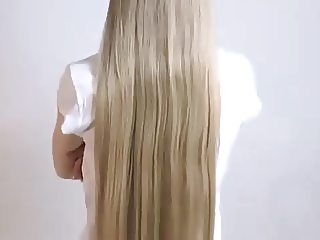 long blonde hair shaved