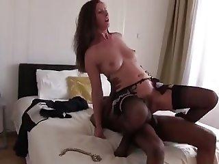Mature Milf Lara Sucking Fucking Big Black Cock