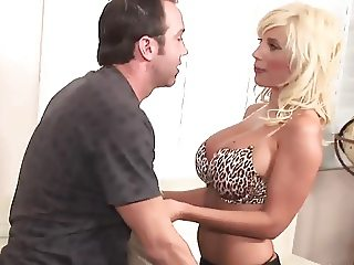 Swedish blonde milf with big tits fucks guy (TOP MILF)