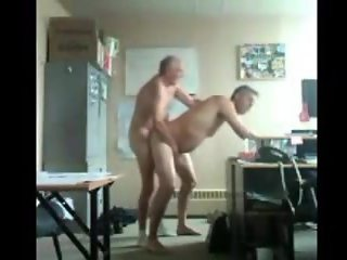 Daddy and grandpa fun in office