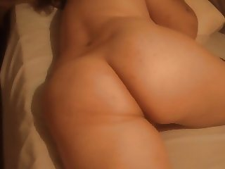 huge latina MILF ass in bed