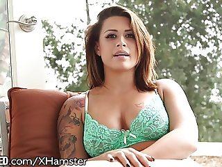 Throated Eva Angelina Gets Throated!