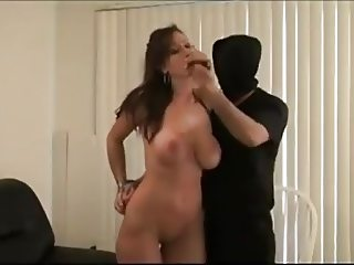 Sexy busty milf gets tied and gagged