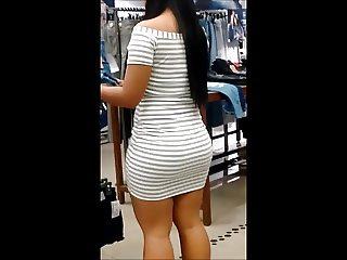 Brunette extreme ass