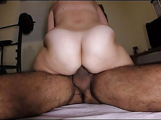 Hairy amateur peluda wife doggystyle cowgirl