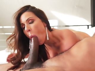 Busty Kendra Lust sucking and fucking black dude