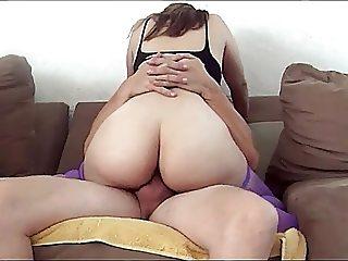 Latina Anal Ride on the Sofa