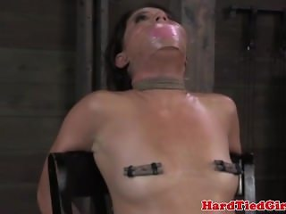 TT gagged sub gets pussy punished