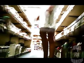 Slut flashing in the shop