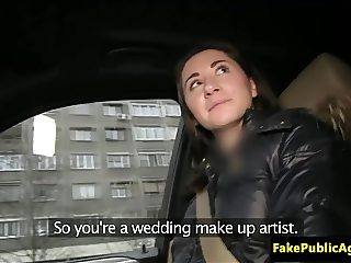 Amateur euro fucked in public for cash