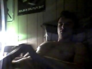 young stud jerking off before bed