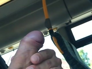 Public bus with blonde