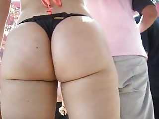 Candid latina beach big ass 5