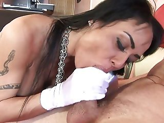 Sexy MILF in stockings rides hunk's dick like a pro