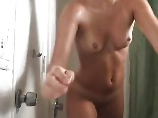 Shaved selfie shower