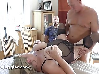 Tied up watching his wife getting fucked