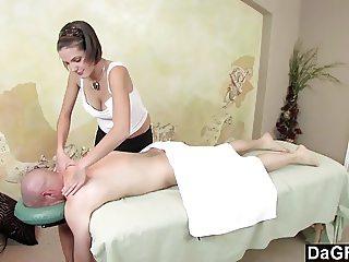 Dagfs  Busty Teens Massage Gets His Cock Rock Hard