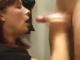 hand job and ejaculatin' in slut kathy's mouth