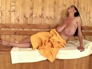 Merilyn Sakova - A Slim Young Lady with Oversized Breasts in A Sauna
