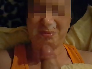 Cum on Polish Face. Facial