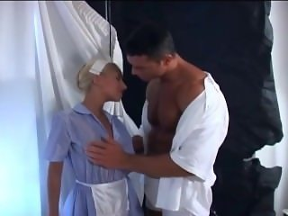 Hard Bodied Muscle man with Nurse