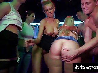 Bi pornstars fuck in the club