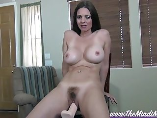 Blackmailed Step-Sister Mindi Mink On A Fucking Machine