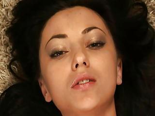 Anna Sbitnaya - nude on carpet