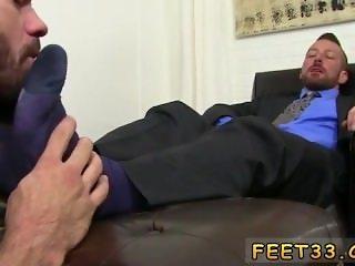 Gay calf foot sex and feet orgies gay Hugh Hunter Worshiped Until He Cums