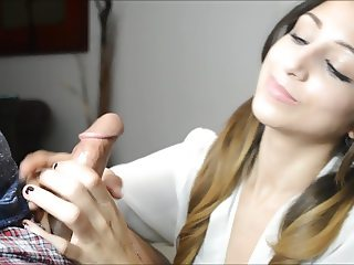 Sex Clothed Girl Handjob Ruined Cumshot