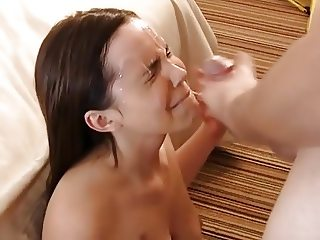 Girlfriend first time facial