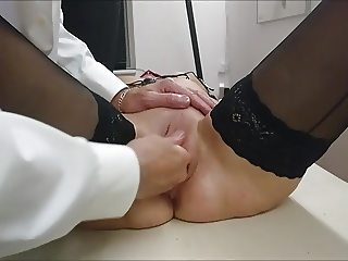 Domination on massage table..