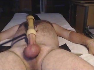 VENUS 2000 MILKER #2 me milking my hung alpha bear