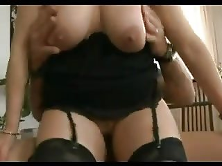 Mature rides him and then gets her ass filled!