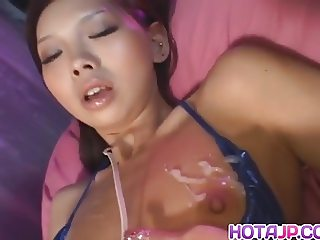 Mimi with long nails enjoys vibrator on cunt