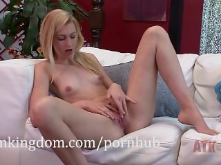 Alexa Grace shows her tight pussy and rubs her clit