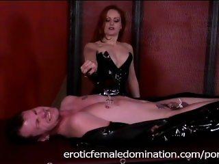 Slutty Mistress Gemini enjoys pleasuring a dude's throbbing meat pole